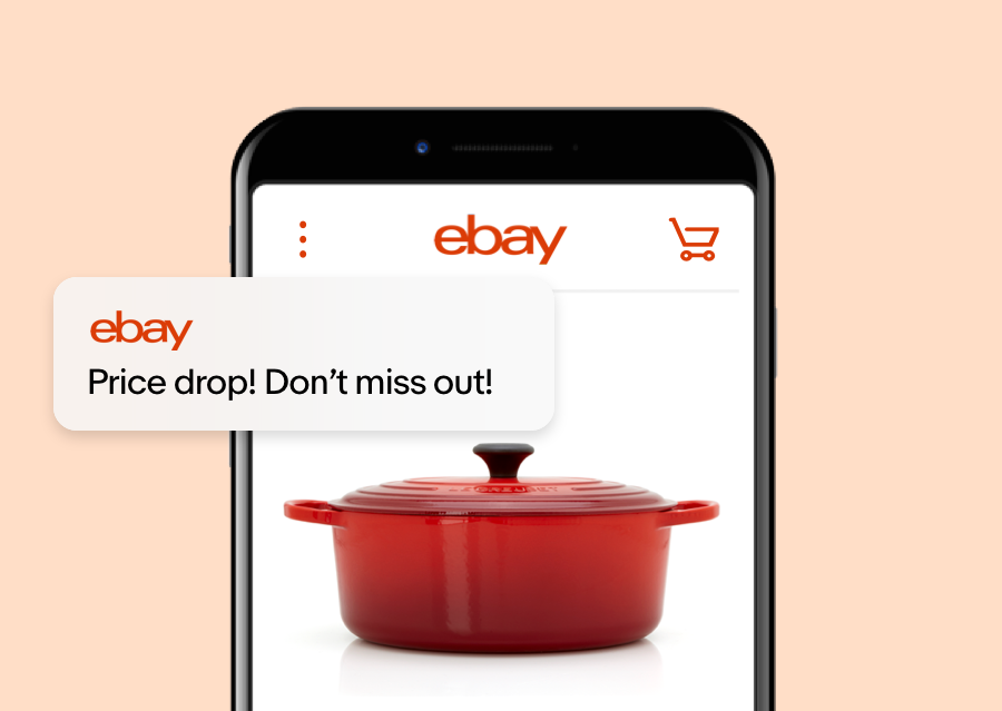 Download the ebay app to receive coupons, get price drop alerts, and easily track orders.